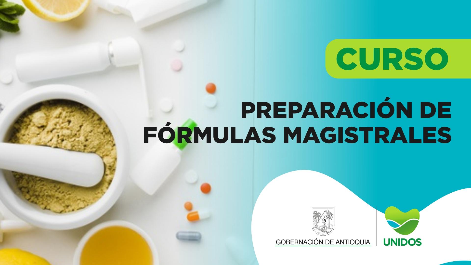 Course Image CURSO DE PREPARACIÓN DE FÓRMULAS MAGISTRALES